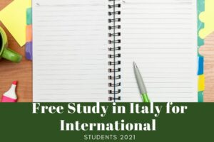 Free Study in Italy for International Students 2021